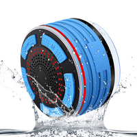 Bluetooth Shower Speaker IPX 7 Waterproof, Wireless Bathroom Speaker with FM Radios, LED Light, Suction Cup, Portable Speakers