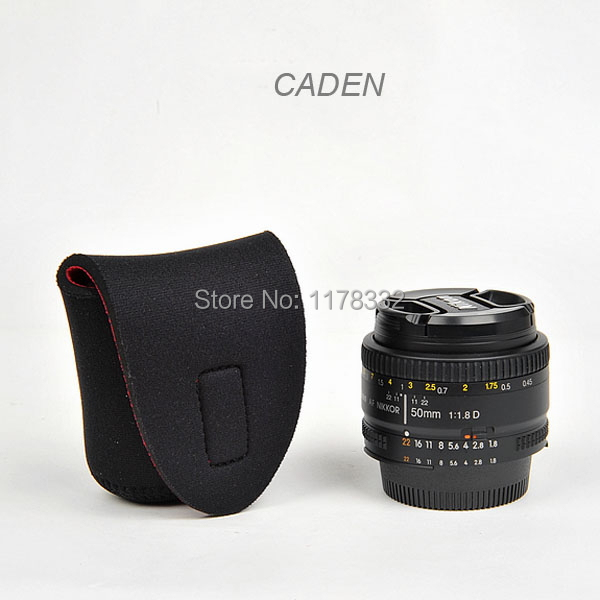 50PCS Neoprene Soft Protector Camera Lens Pouch Photography Photo Bag Cases Size S Shoulder Strap