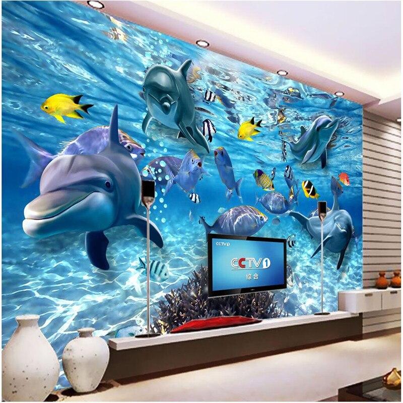 Beibehang personalizado foto papel pintado 3D estéreo mundo submarino de  Marino sala de estar de los niños TV Fondo 3D mural papel de pared 43f0c1044491