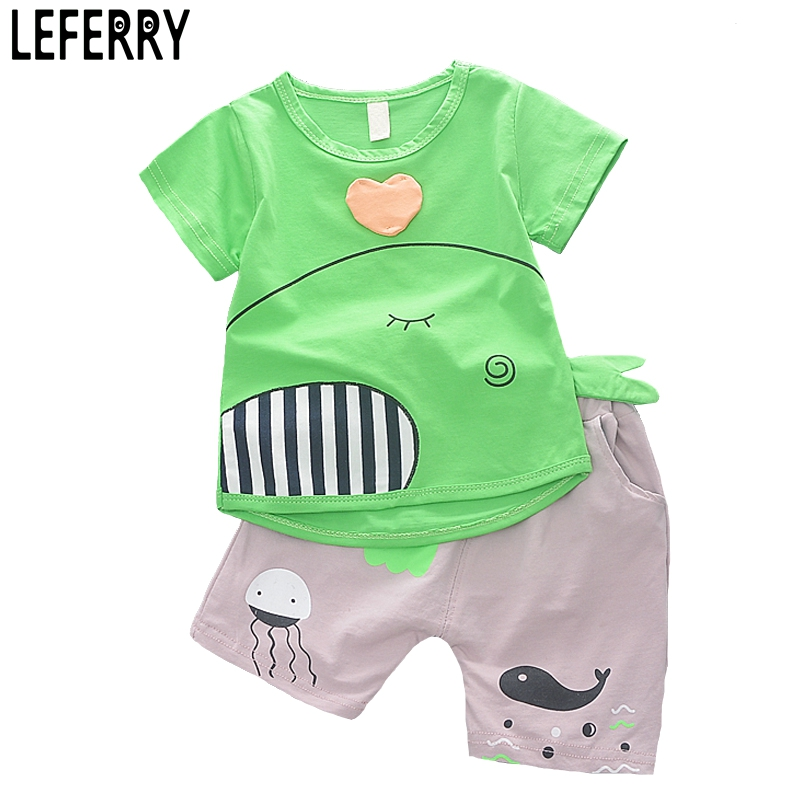 1-4Y 2018 New Fashion Kids Clothes Boys Summer Set Print Shirt Short Pants Baby Boy Clothing Set Toddler Boy Summer Clothes Set