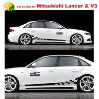 Whole Body Car Styling Modified Vehicle Applique Full Car Body Garland For Mitsubishi Lancer Ex V3