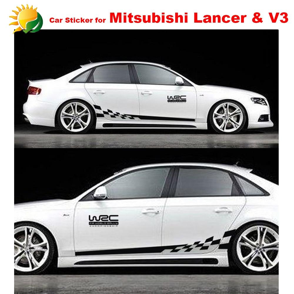 Whole body car styling modified vehicle applique full car body garland for mitsubishi lancer ex v3 car body decorative sticker