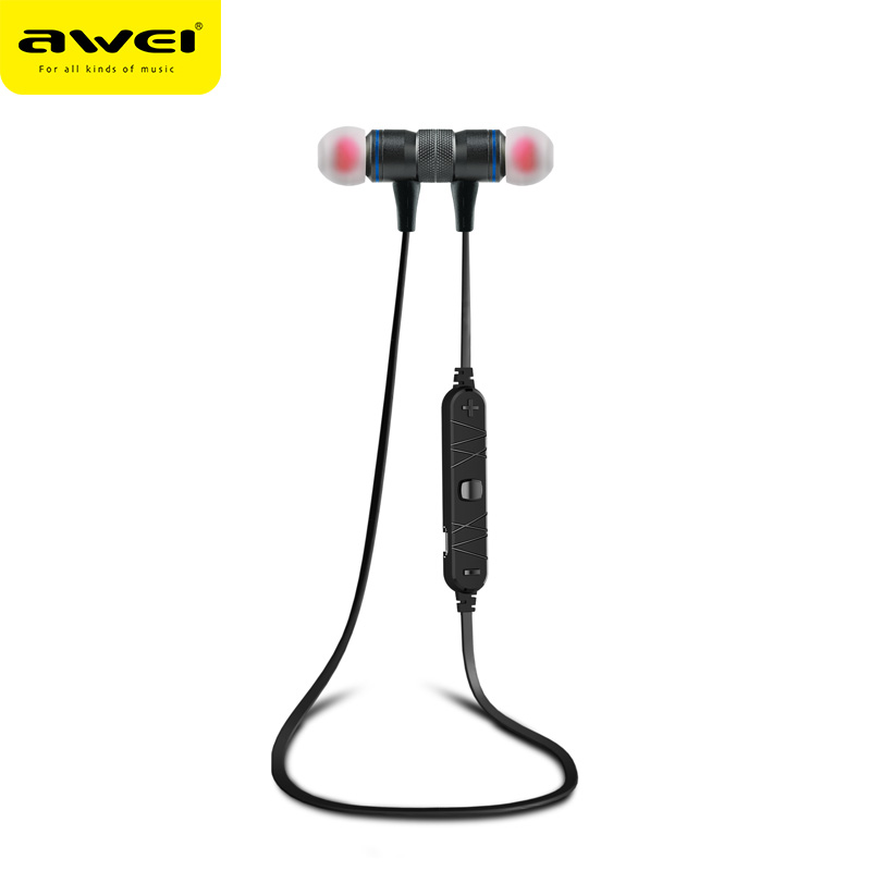 New Awei A920BL Wireless Bluetooth 4.0 Earphone Sport Earphones In-ear Stereo Earbuds with Mic Volume Control For Phones