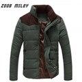 ZOOB MILEY Homens Jaqueta de Inverno Plus Size M-4XL Nova Chegada Quente Casual Casacos de Algodão de Manga Comprida Moda Outerwear