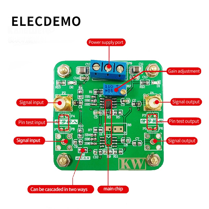 Image 2 - THS3121 Low Noise Amplifier High Output Current High Slew Rate Positive and negative5V~15V Wide Supply Voltage-in Demo Board Accessories from Computer & Office