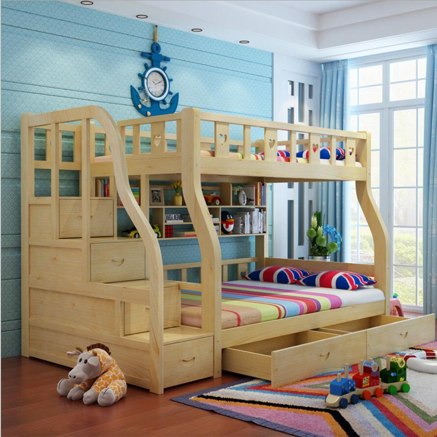 Webetop kids beds for boys and girls bedroom furniture for Mueble cama doble