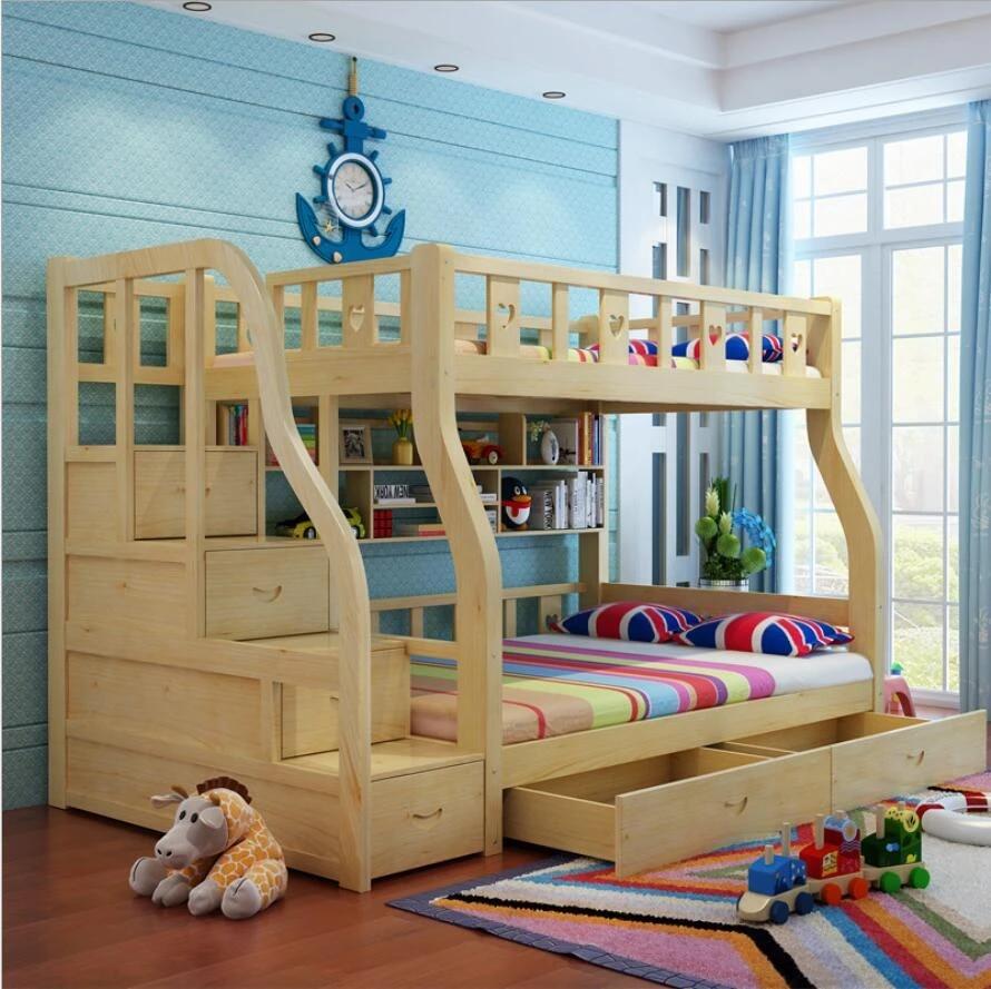 Webetop Kinder Betten Fur Jungen Und Madchen Schlafzimmer Mobel Burg Etagenbett Kinder Twins Doppel Einzigen Hochbett Bed For Boys Bunk Bedbed Child Aliexpress