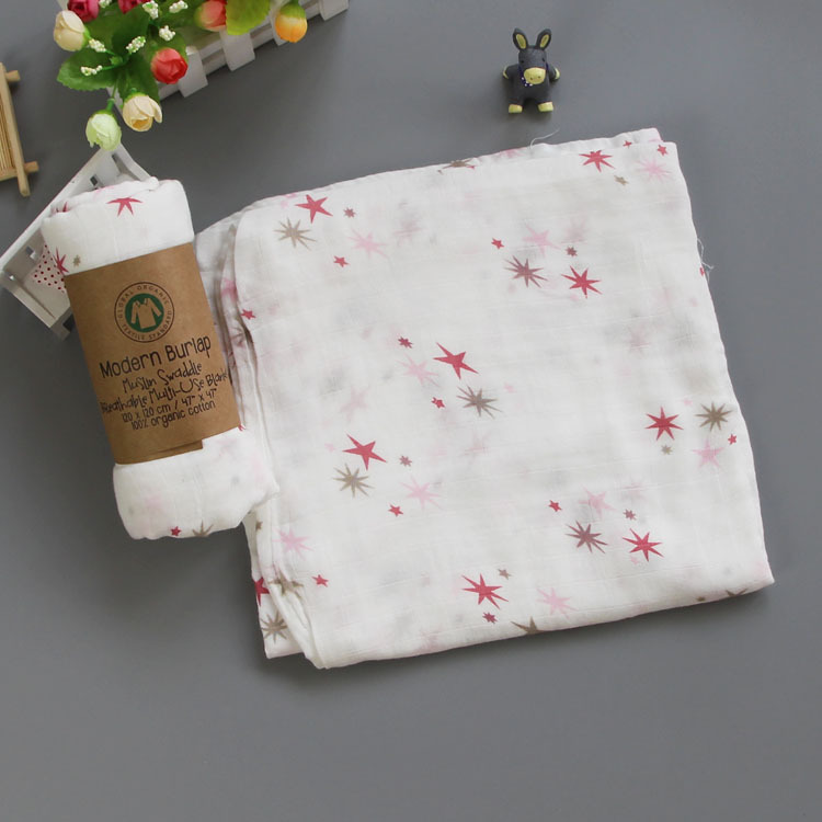 Muslin Cotton Kids Newborn Bath Towel Security Swaddle Blankets  Baby Cotton Cloth  Baby Beach Towel Baby Children Care Stuff  12