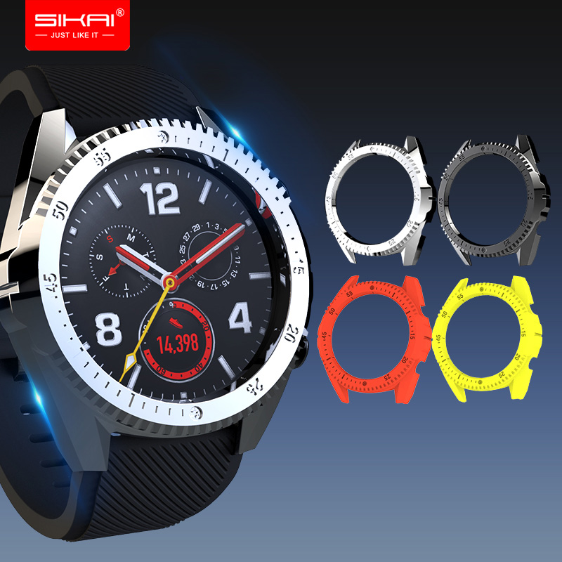 Cases for huawei watch gt smart watches covers PC Shell protector SIKAI Sport Accessories Colourful in Smart Accessories from Consumer Electronics