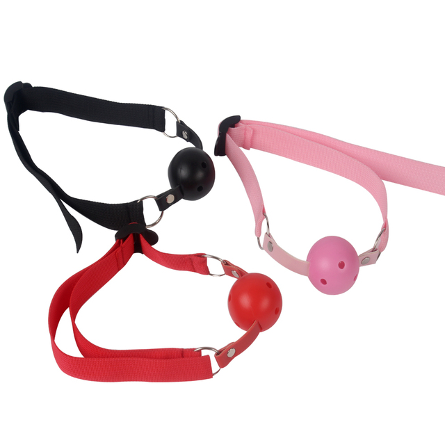 IKOKY Sex Bondage Adult Games Open Mouth Gag Ball Oral Fixation Stuffed Sex Toys for Women Couples Erotic SM Toys Adult Products
