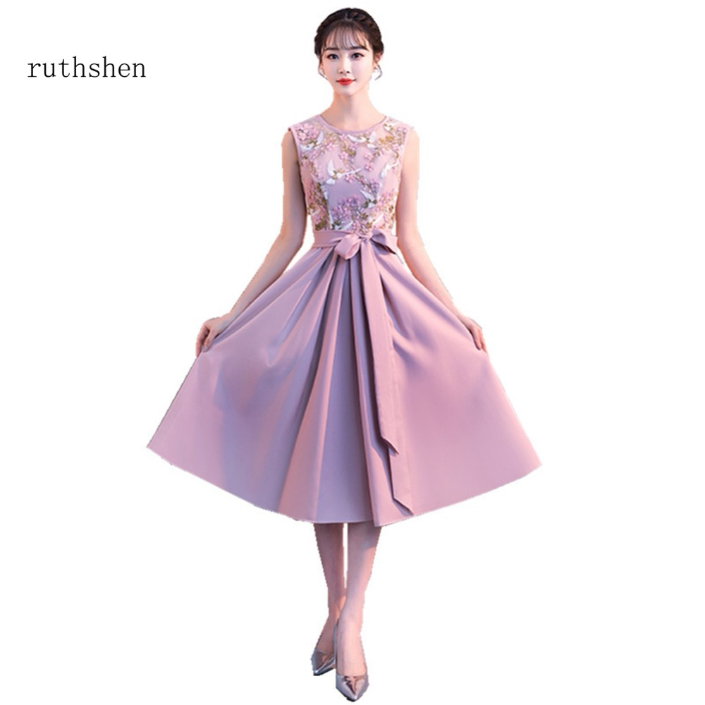 ruthshen 2018 New Sexy Scoop Neck   Prom     Dresses   Sleeveless Appliques Long Formal Evening Gowns For Girls Special Parties   Dresses