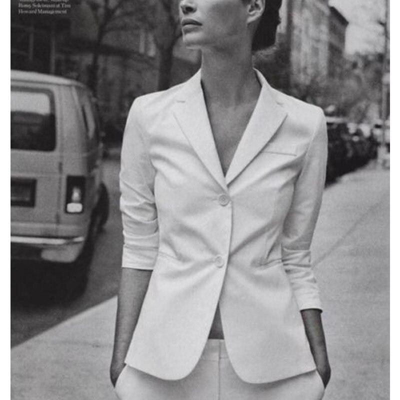 White font b Women b font Ladies Formal Business Office font b Jacket b font Pants