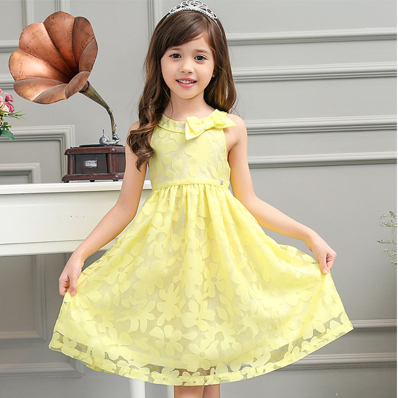 Baby Girls Lace Dress  Princess Flower Girl Dresses Sleeveless Kids Clothes Eveving Party Children's Clothing