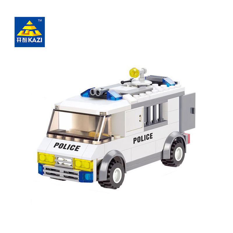 KAZI 6730 135pcs 3D DIY Construction eductional plastic Bricks Building Block Sets Police prisoners cars Enlighten children toys police station swat hotel police doll military series 3d model building blocks construction eductional bricks building block set
