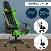 360 Degree Rotation Rolling Wheels Home Office Computer Desk Ergonomic Height Adjustable Gaming Chair Recliner Racing Chair