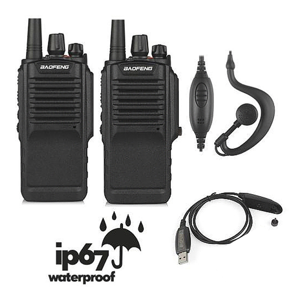 2pcs x Baofeng BF-9700 UHF 400-520MHz 5W IP67 Waterproof Ham Two-way Radio Walkie Talkie with Programming Cable 2pcs x Baofeng BF-9700 UHF 400-520MHz 5W IP67 Waterproof Ham Two-way Radio Walkie Talkie with Programming Cable