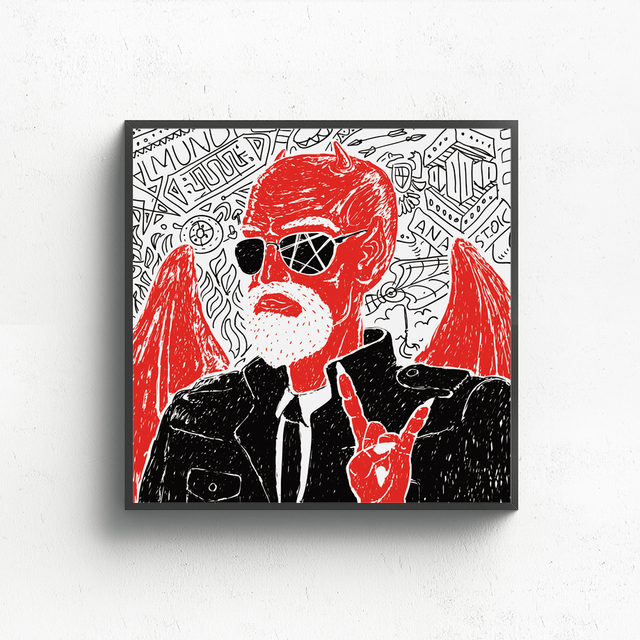 Devil Building Car Wall Art Canvas Painting Nordic Posters And Prints Canvas Art Abstract Paintings For