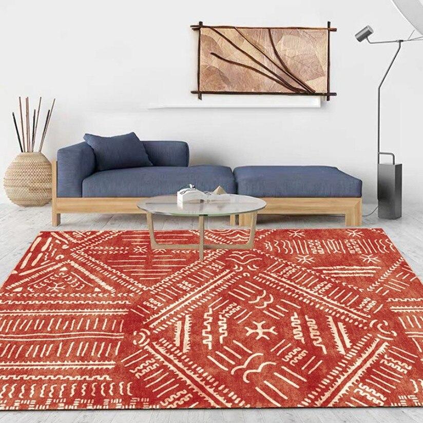 INS nordique marocain ethnique géométrique Kilim imprimer salon tapis Simple chambre salon tapis chevet couverture étude tapis