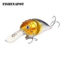 FISHINAPOT 1PC Crankbait 14.2g 8.5cm Swim Crank Hard Bait For Bass Pike Fishing Lure Fishing Wobblers Tackle Pesca 3D Eyes