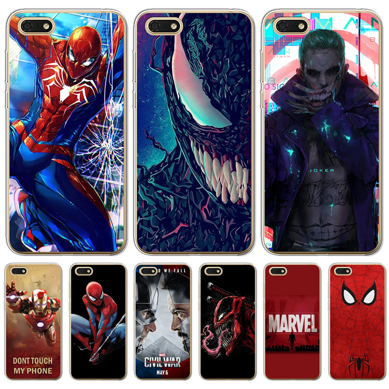 Joker venom <font><b>marvel</b></font> Spiderman Iron Man For Huawei <font><b>Honor</b></font> 6A 6X 7 7X 7C 7A Pro 8 <font><b>Lite</b></font> 8X <font><b>9</b></font> 10 Nova 2 Plus <font><b>phone</b></font> <font><b>case</b></font> Cover Cool image