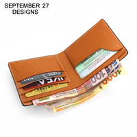 Genuine leather men's wallet luxury brand Original Designs wallet fashion Small Male Short purse Simple Bi fold Clutch carteira