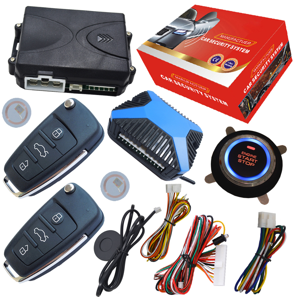 remote central lock system engine start stop button invisible alarm remote start stop car engine by checking lock or unlock easyguard pke car alarm system remote engine start stop shock sensor push button start stop window rise up automatically