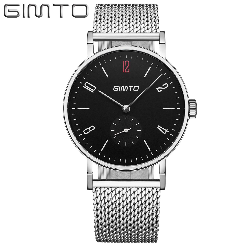 Gimto Fashion Steel Men Watch Top Brand Luxury Men s Quartz Wrist Watch Male Clock Relogio