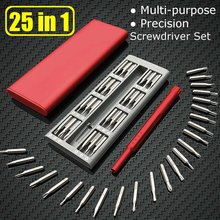 25pc/set Universal Mini Screwdriver Kit suit for Xiaomi Mijia Wiha Daily Use Precision Magnetic Bit Screw Driver Smart Home tool(China)