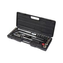 Набор инструментов SPARTA 135055 (54 предмета, высококачественная сталь, торцевые головки, биты, вороток, трещотка для головок, кейс)