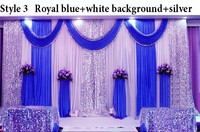 2016 new arrival sequin wedding backdrop curtain with swag wedding drapes for wedding decoration