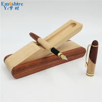 Emoshire Wooden Pencil Box With New Arrival Fountain Pen Best Quality Fountain Pen Pencil Case Classic