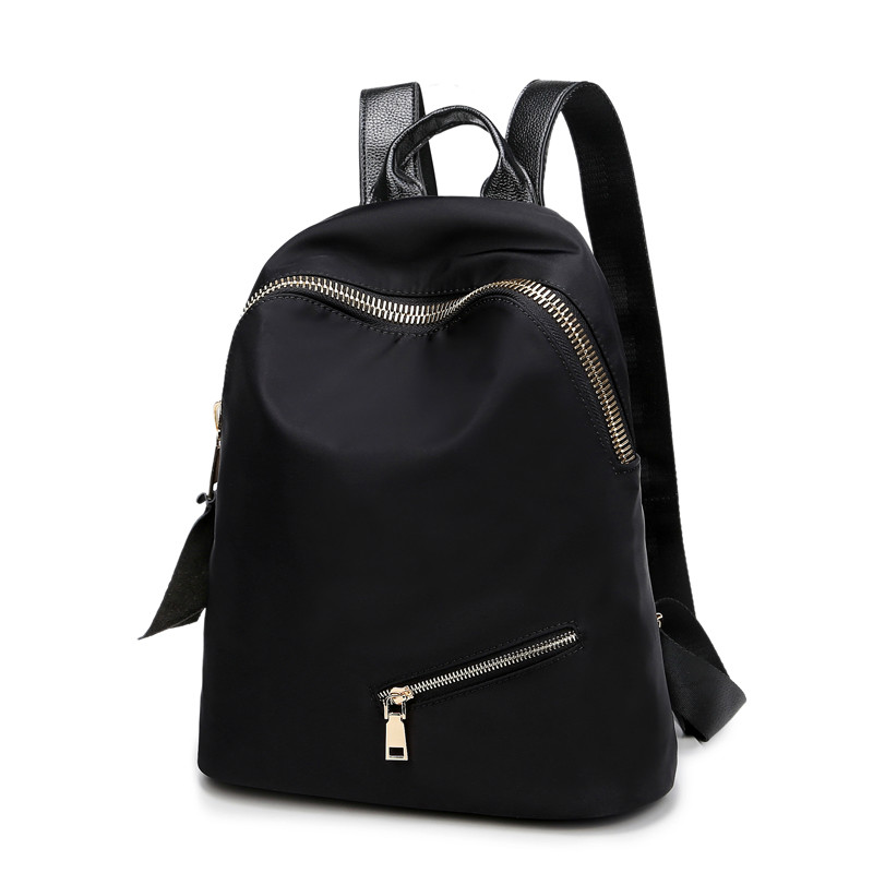 Oxford cloth shoulder bag female Korean version of the wild college wind nylon bag simple fashion wave travel female backpack qiaobao 2018 new korean version of the first layer of women s leather packet messenger bag female shoulder diagonal cross bag