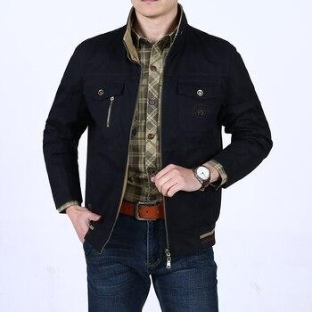 Brand jackets men 2018 Spring coat men stand collar cotton reversible casual jacket men jaqueta masculina plus size 5XL
