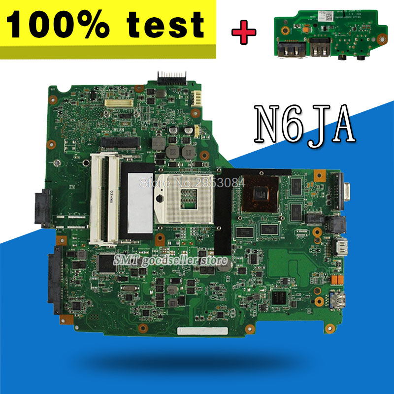 send board+N61JA Motherboard REV2.1 HM55 Support i3 i5 For ASUS N61JA N61J Laptop motherboard N61JA Mainboard N61JA Motherboard стоимость