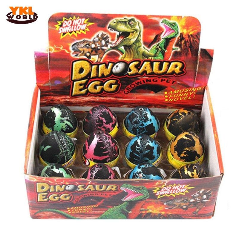 12pcs/set Large Size Black Crack Water Magic Hatching Growing Dinosaur Eggs Hatch-Grow Dino Egg Children Educational Toy -45