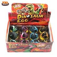 12pcs/set Large Size Black Crack Water Magic Hatching Growing Dinosaur Eggs Dino Egg Children Educational Toy Christmas Gift (S5