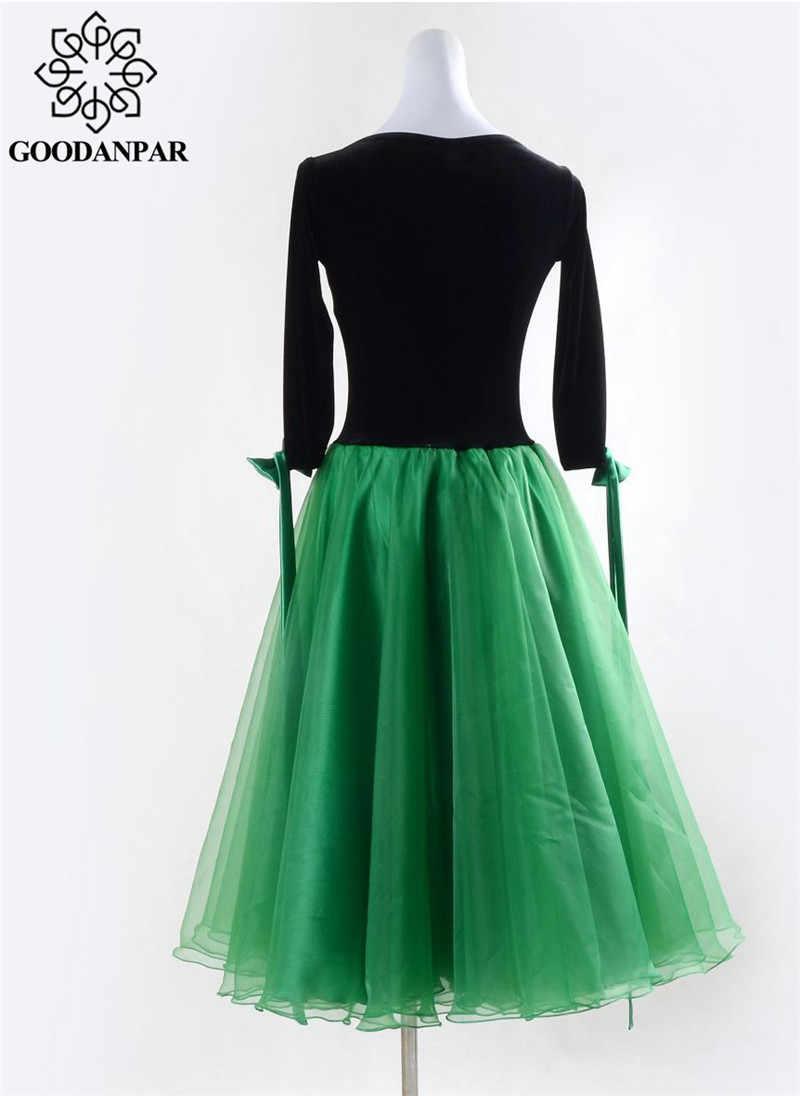 GOODANPAR Бальные платья Танец с бюстгальтером женское бальное платье стандартная сценическая танцевальная одежда Вальс Танго Подгонянная
