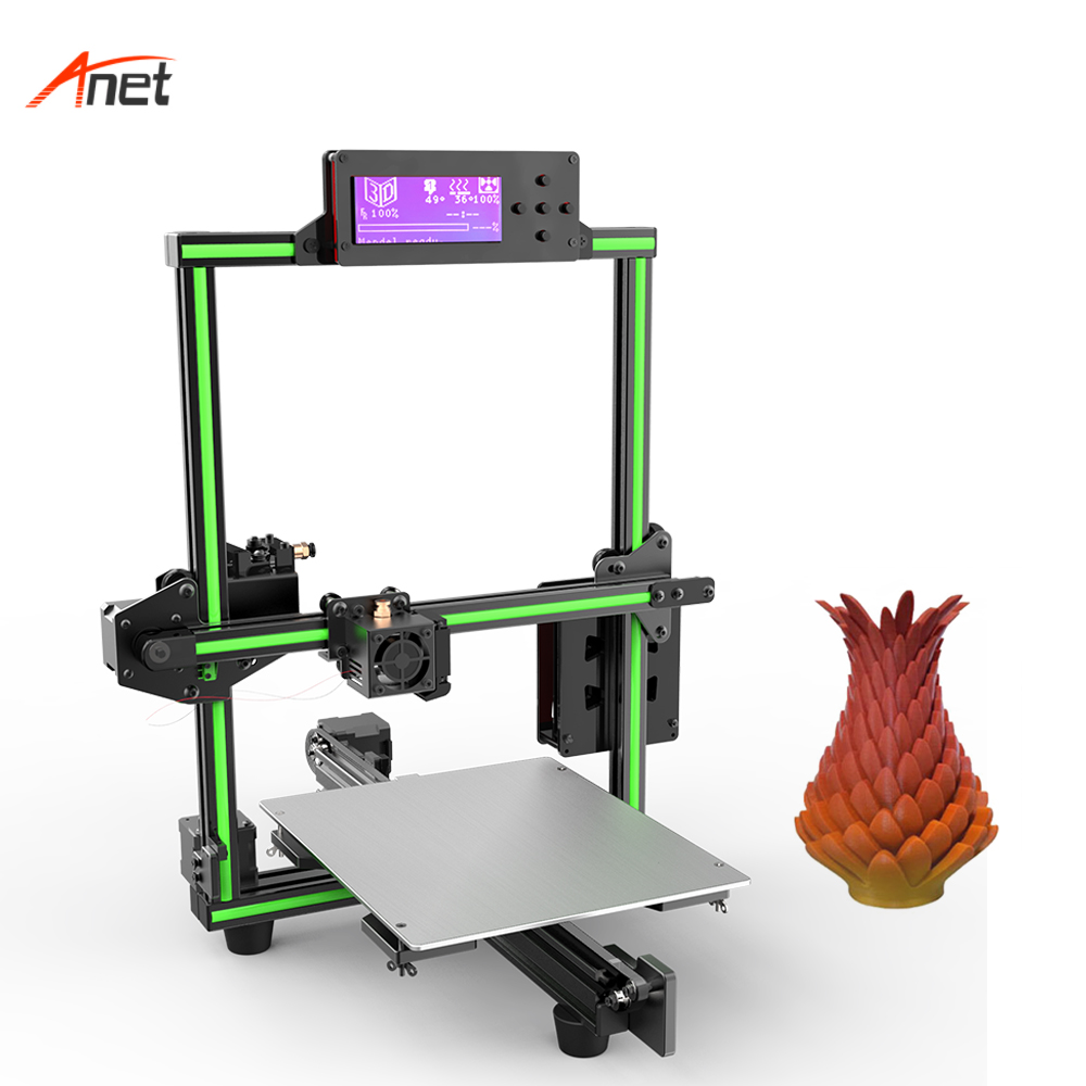 Anet E2 Metal Frame Easy Assembly Home 3d Printer Durable Structure 3d Printing Machine Online Offline