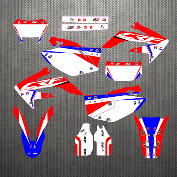 Full set Sticker Kit Customized Number Graphics & Backgrounds Decals For Honda CRF250X CRF 250 X CRF250 2004-2013 2005 2006 2007