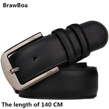 Fashion 140 CM Men Belt GENUINE Leather Waistband Vintage Classic Pin Buckle Design Belts For Men ceinture homme luxe marque 2mbi75p 140 genuine kwcdz