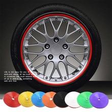 8 metri/rotolo adesivo per pneumatici per Auto Car Styling decorativo striscia cerchione protezione pneumatici coperture per la cura accessori Auto con colla 3M