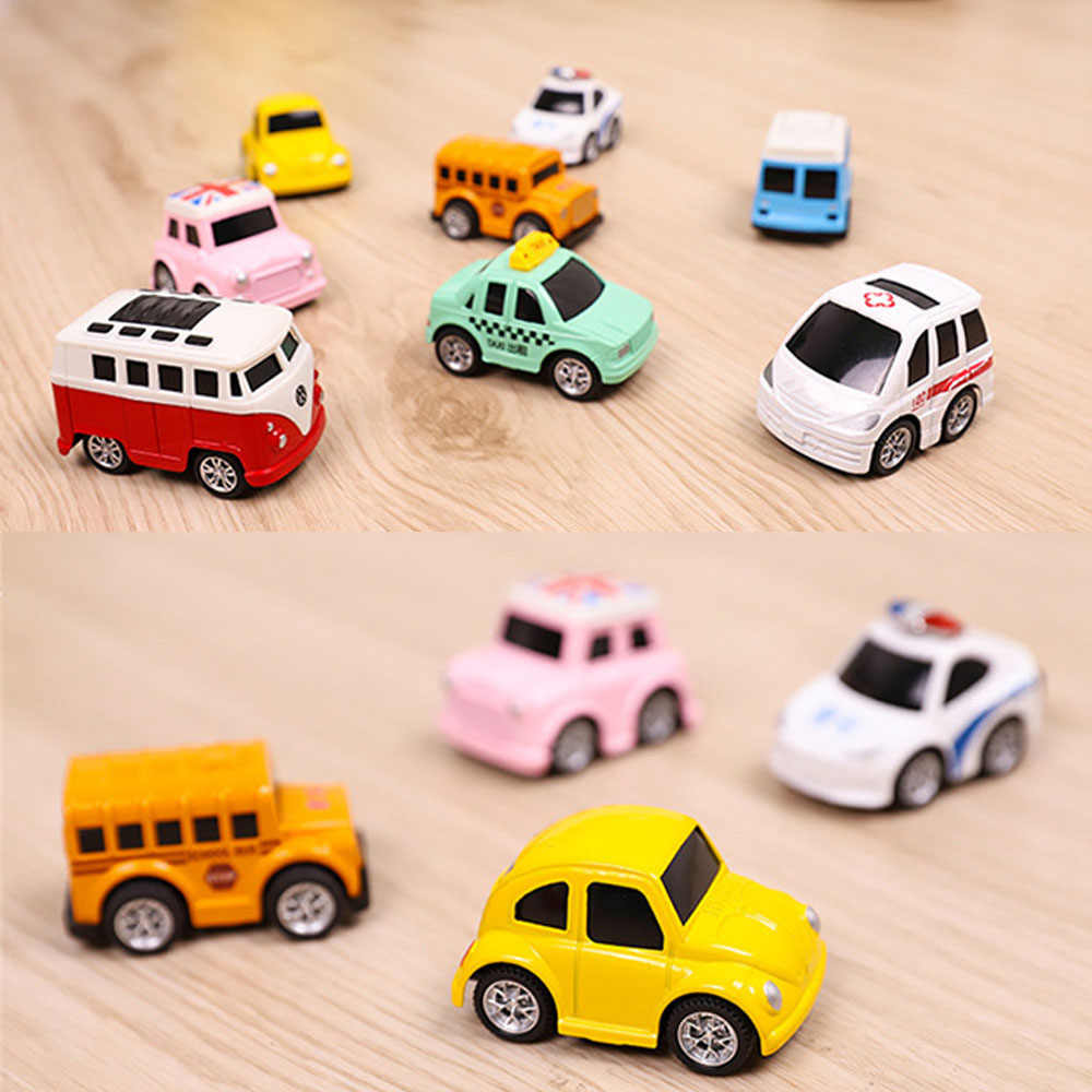 8pcs/Set Kids Alloy Car Toy Pull Back Diecasts Toy  Small Model Mini Car Toys for Boys Brinquedos Boy Birthday Gift