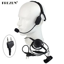 Walkie talkie Military Bone Conduction Tactical Headset with boom mic for Midland G5 G6 G7 G8 G9 GXT550 GXT650 LXT80 Radio
