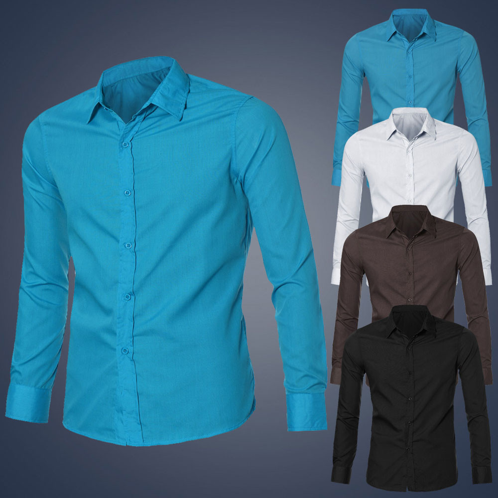 ad3f3839979 Luxury Charming Men Office Work Shirt Long Sleeve Slim Fit Shirt Spring  Autumn Business Suits Casual Men Necessary Shirts-in Casual Shirts from  Men s ...