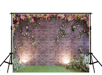 Kate Brick Wall Backdrops Photography Pink Flower Green Screen Grass Floor Fotografia Backgrounds For Photo Studio