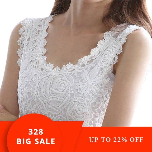 bddbd01067d US $3.75 19% OFF|Aliexpress.com : Buy Sexy Lace Stunning Based Sleeveless  Vest Tank Top Tee T Shirt Black White Solid Camisole Cami Shirt Slim Women  ...