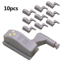 10pcs set 0 25W Night Light Cabinet Inner Hinge LED Sensor Light
