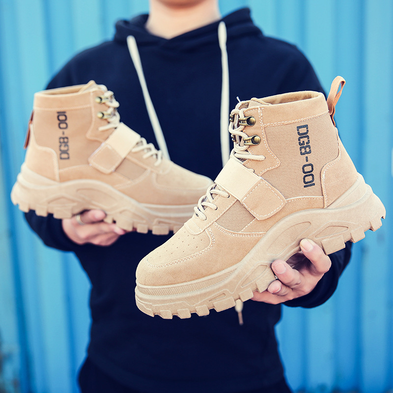 Mhysa 2019 Winter Autumn Men Military Boots Quality Special Force Tactical Lace Up Desert Combat Ankle Leather Snow Boots L485