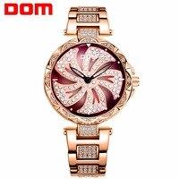 Watch Women DOM Brand Japanese movement hollow dial diamond strap Waterproof Fashion Luxury female Wristwatch gift G 1258GK 9MF
