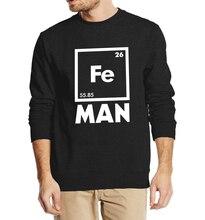 Funny Chemistry Fe Periodic Table 2016 autumn winter men sweatshirt hoodies streetwear tracksuit hip hop top crop top clothing